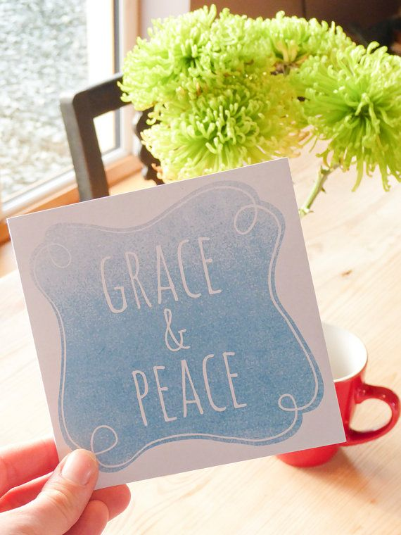 Bible verse greeting card  Grace and Peace