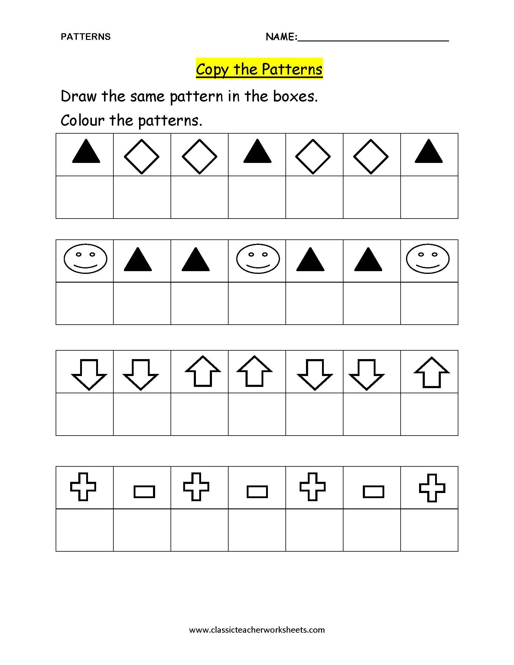check out our collection of math worksheets at worksheet patterns. Black Bedroom Furniture Sets. Home Design Ideas
