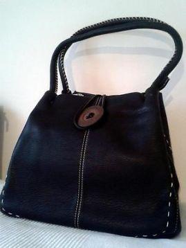 a42c7c0b555 Opvallende zwarte knoop-schoudertas, merk: TOM & EVA - Tassen | Damestassen