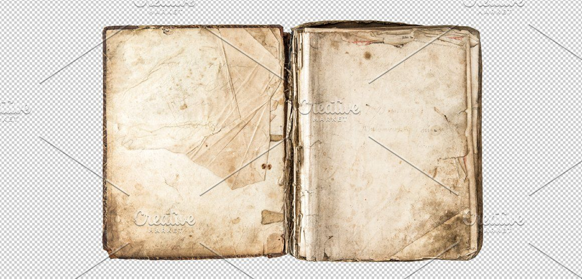 Png Old Book With Aged Pages Old Diary Old Books Old Paper