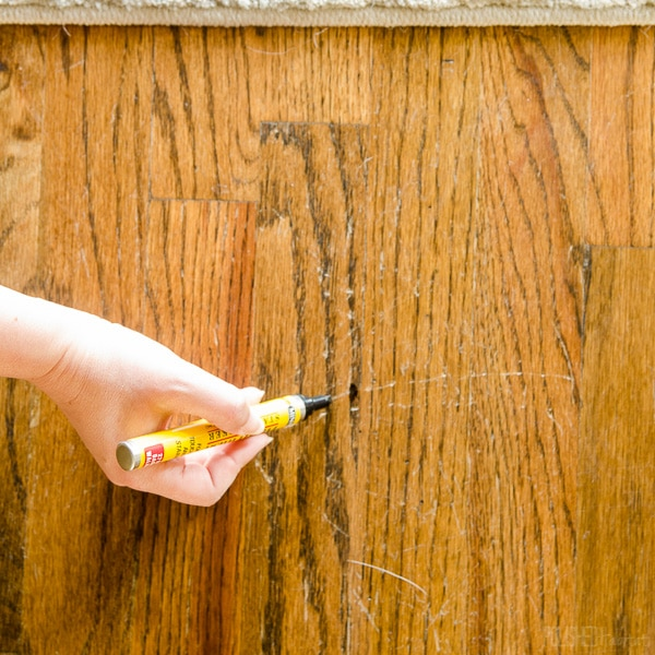 How to Repair Wood Floor Scratches {Quick Fix Friday} in