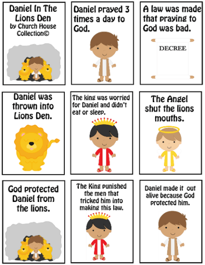 Daniel In The Lions Den Mini Book Printable. Free Bible Sunday ...