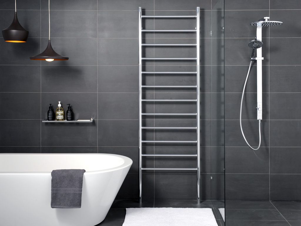 hydrotherm platnium series heated towel rail 2120mm high available in 500 600