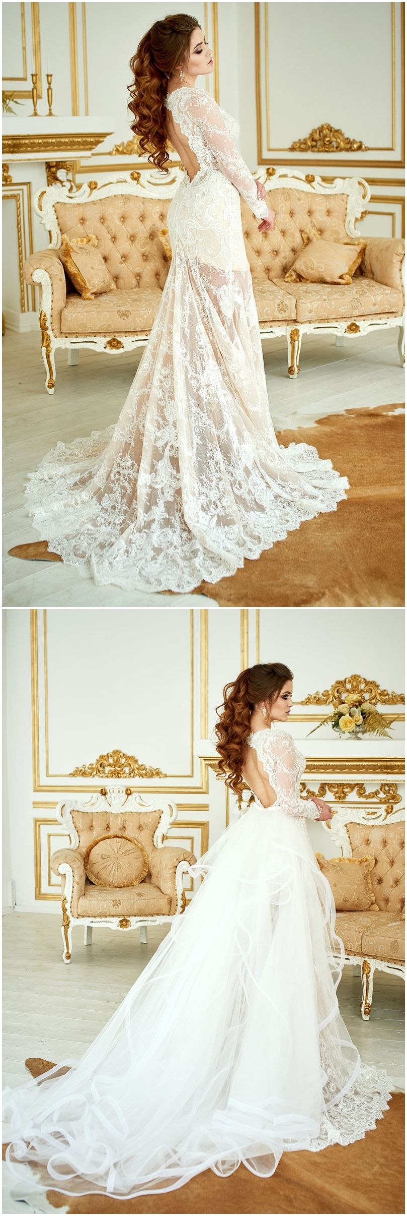 Wedding dress renaissance lace wedding dress bohemian wedding