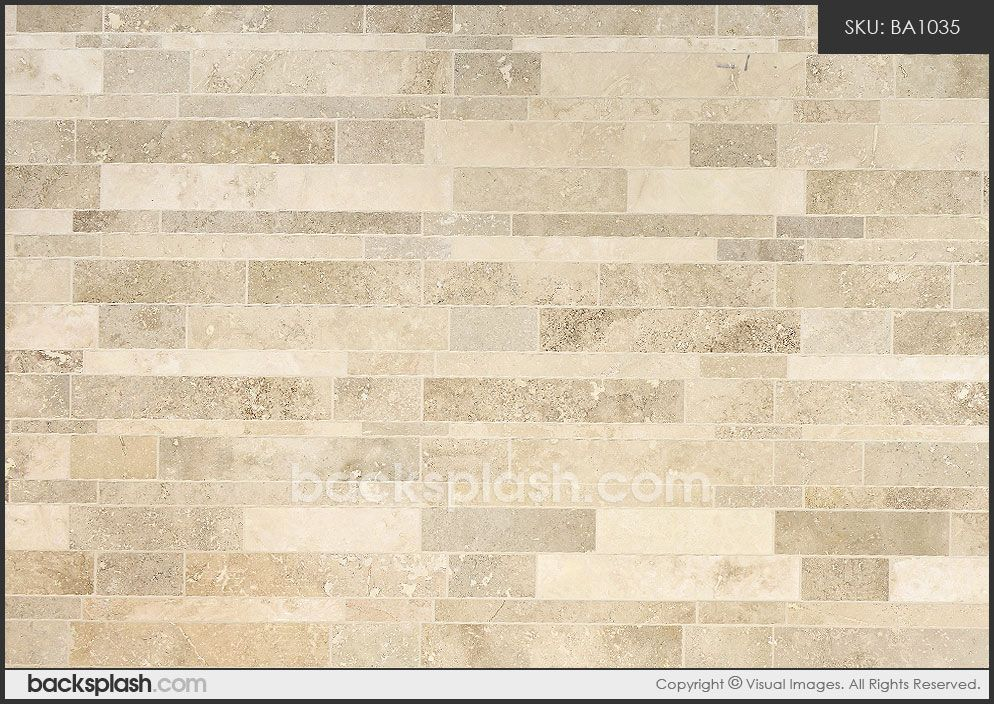 Subway Travertine Tile Brown Beige Color Travertine