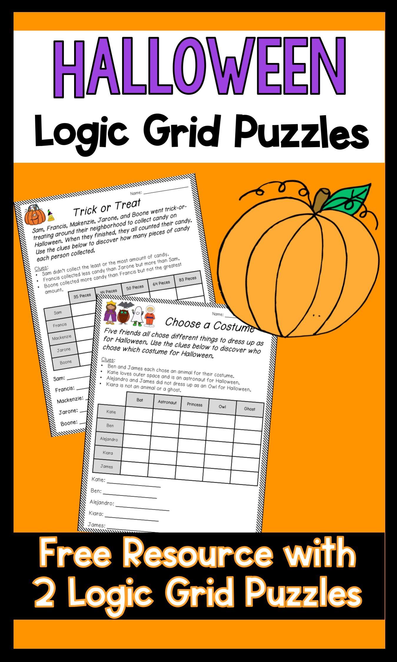 Halloween Logic Puzzles