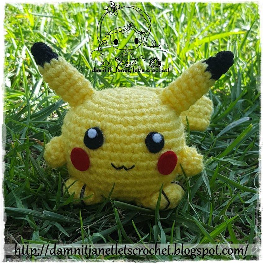 Chibi Pikachu (pokemon) - free pattern | Pokemon paterns | Pinterest ...