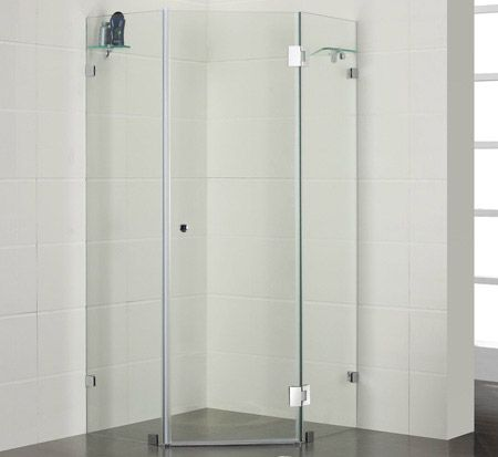 Frameless Corner Shower 900mm 780 Banos