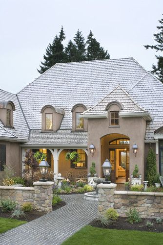 Traditional exterior photos french provincial design for Traditional exterior home designs