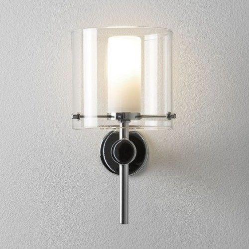 Astro Arezzo Chroom badkamerlamp helder glas , Wandlampen ...