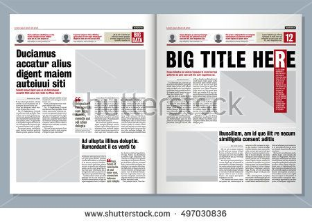 Tabloid Paper Design Royalty Free Graphical Design Newspaper