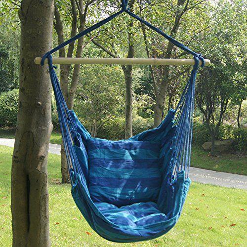 Prime Garden Seaside Stripe Soft Comfort Hanging Hammock Chair Hanging Hammock Chair Hanging Hammock Hammock Chair