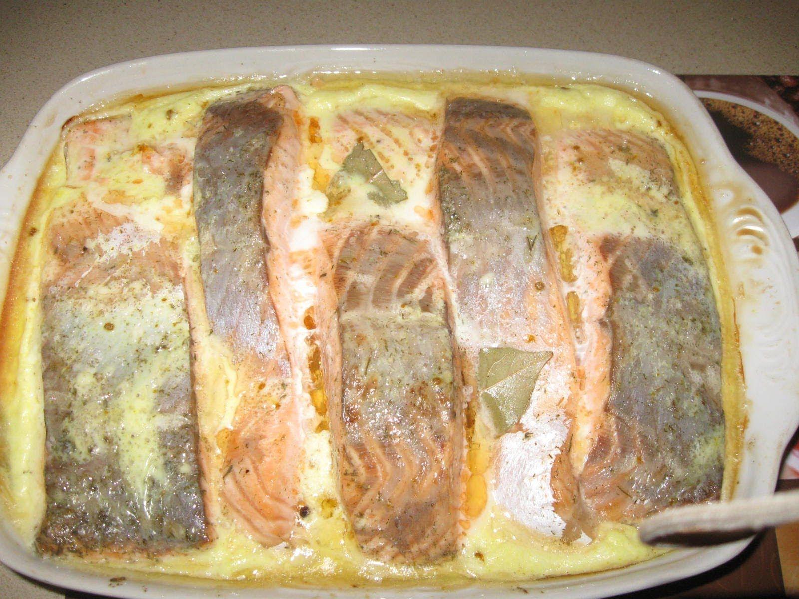 красная рыба в сливках в духовке рецепты с фото