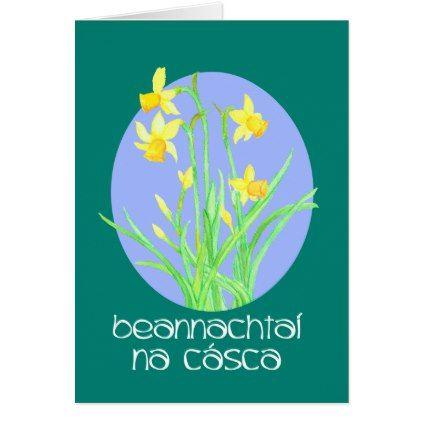 Pretty daffodils irish gaelic language easter card irish gaelic pretty daffodils irish gaelic language easter card floral gifts flower flowers gift ideas negle Images