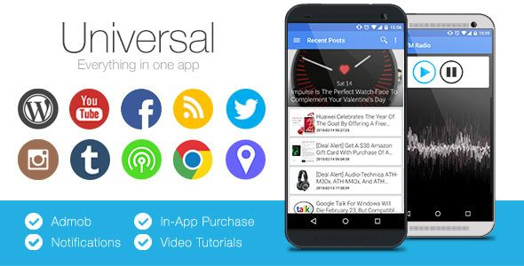 Universal Full MultiPurpose Android App Android apps