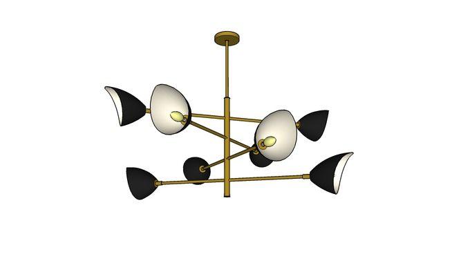 Mid Century Pendant Lamp 3d Warehouse Sketchup Light