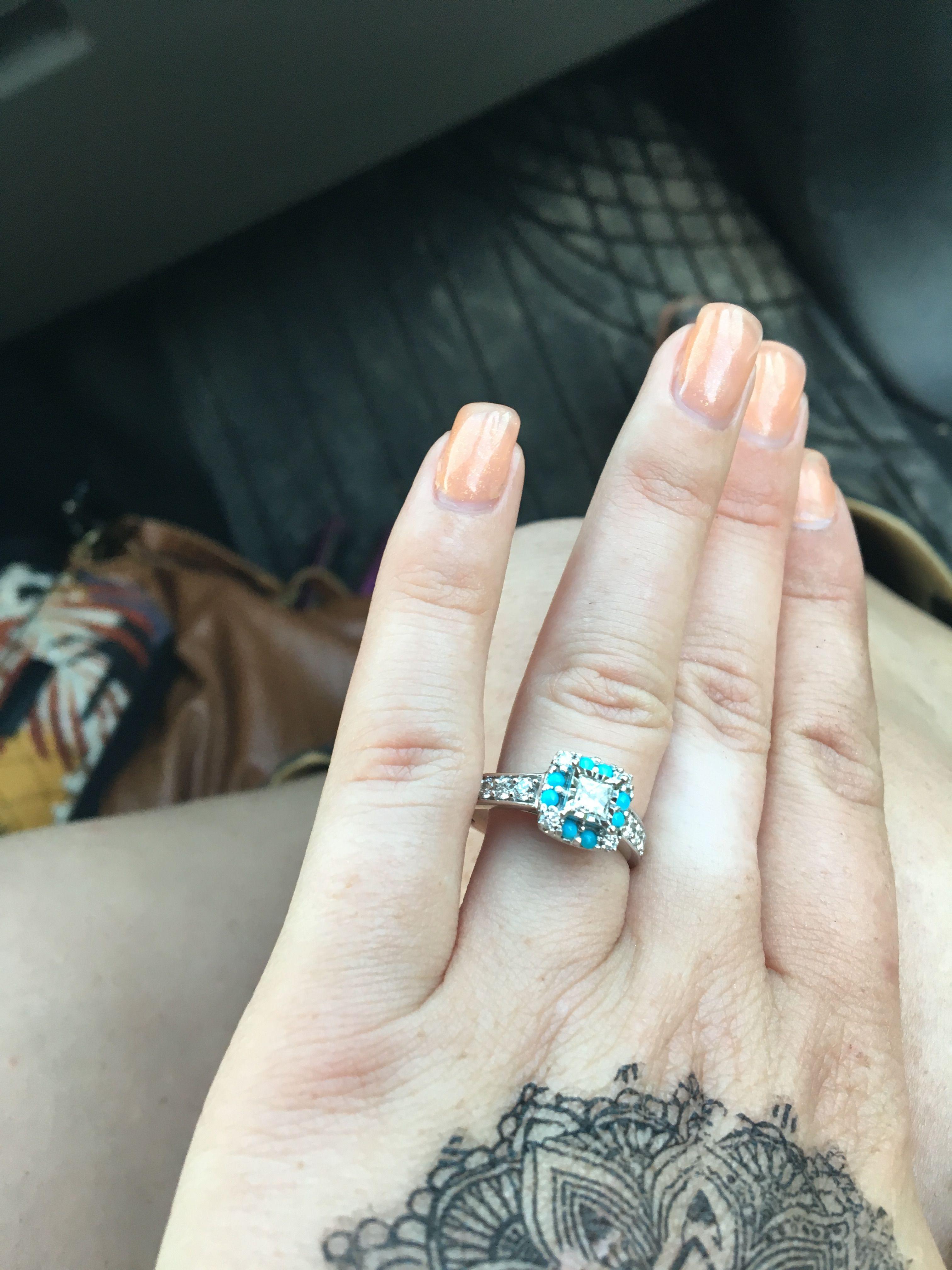 44+ Turquoise wedding rings with diamonds ideas