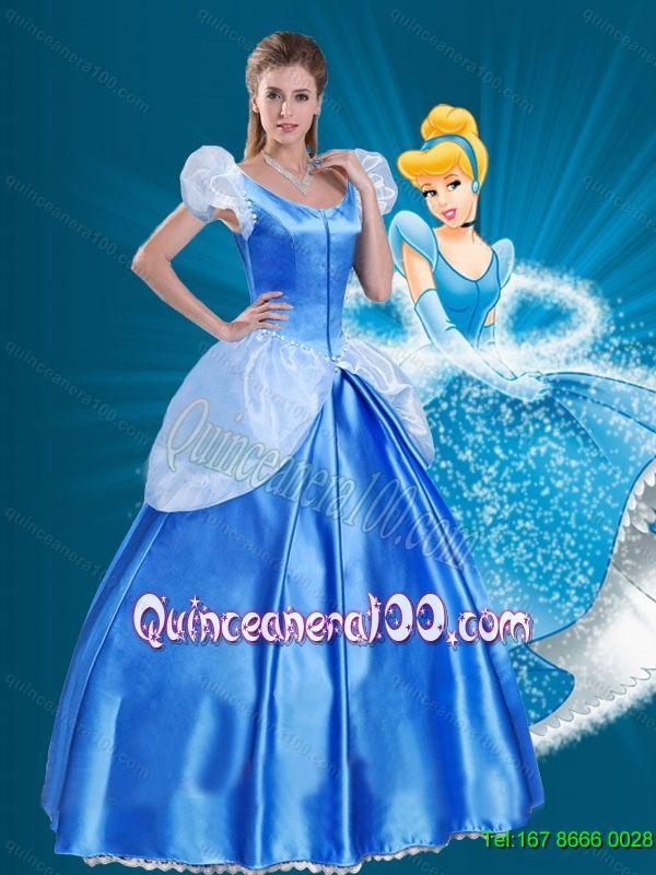 4cfa651350c 2015 Off the Shoulder Popular Cinderella Quinceanera Dress in Blue ...