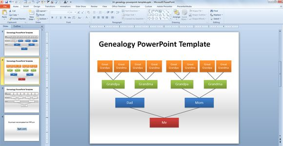 genealogy powerpoint template | presentation | pinterest, Modern powerpoint