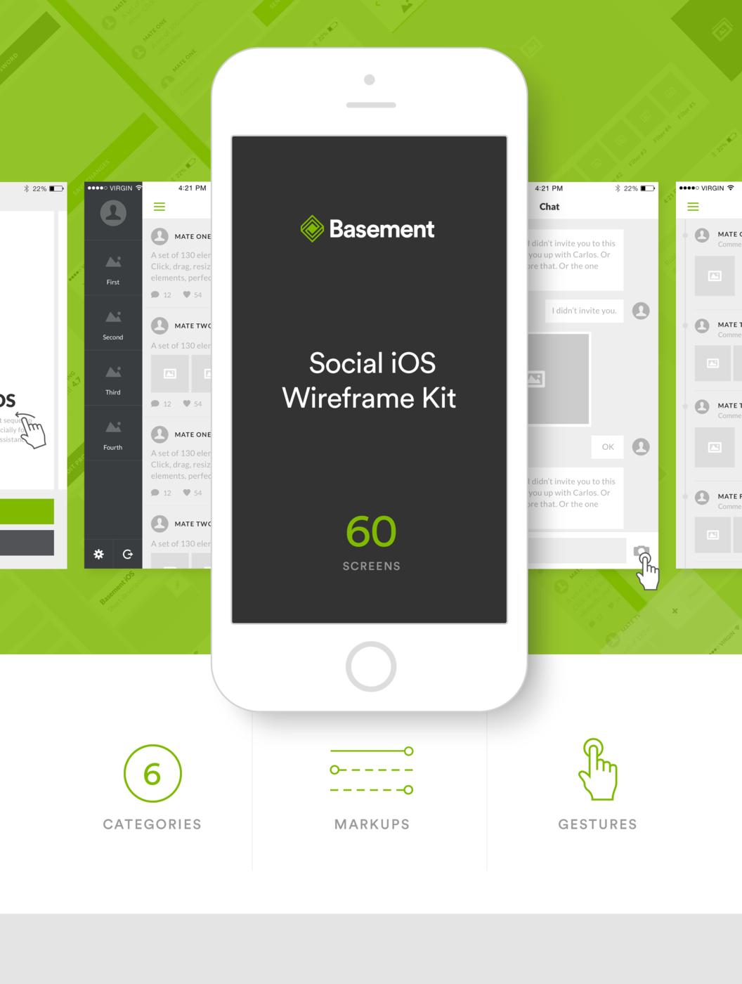 Basement iOS: Social | Digit / App design | Pinterest | Basements ...