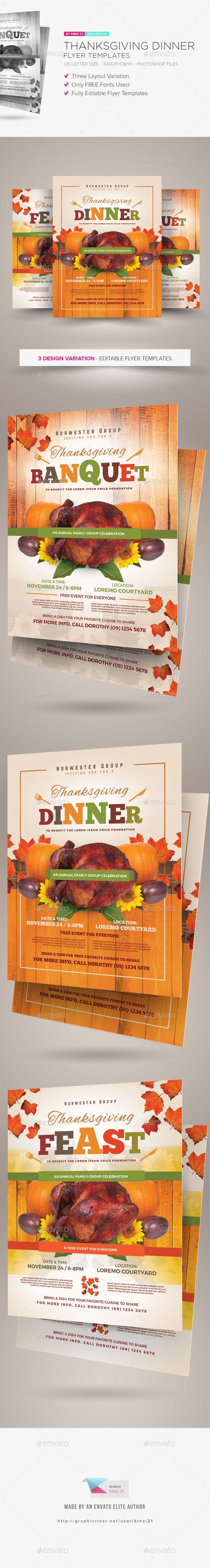 Thanksgiving Dinner Flyer Templates Photo Psd Cuisine Orange Available Here Https