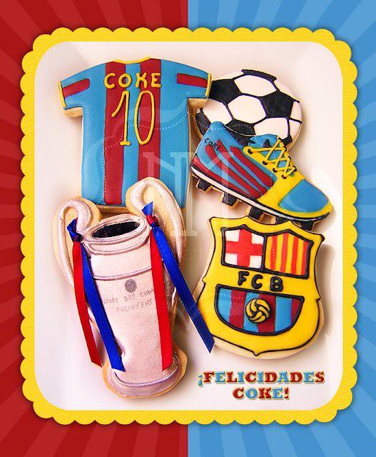 Galletas Del Barça Galletas Decoradas Sport Cakes