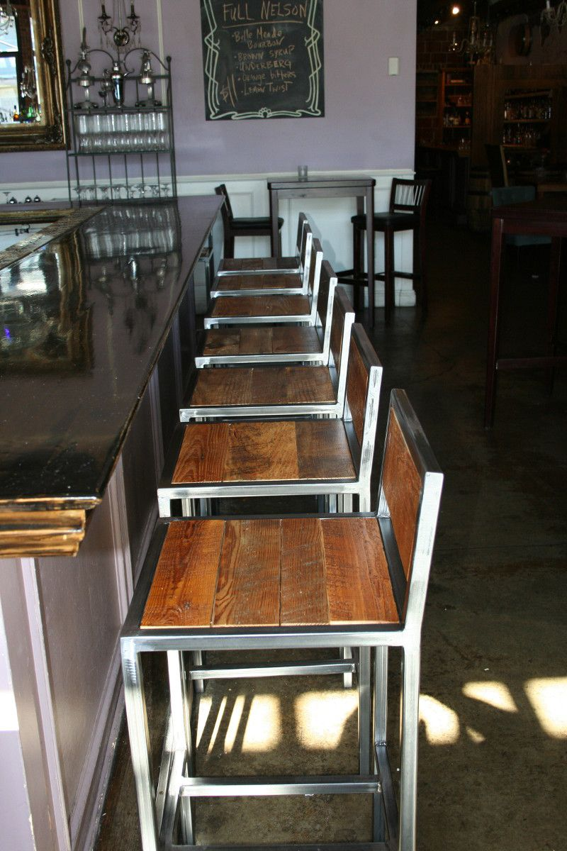 Hudson & Co. bar stool at the Holland House Bar & Refuge in Nashville, TN.  Built by #metalfreddesigns