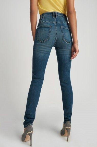 Gutscheincodes Sortendesign außergewöhnliche Farbpalette ORSAY JEANS | Highwaist jeans with button detail #mywork ...