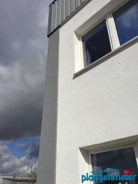 Firmengebäude Mit Dämmung Fassadenanstrich Und