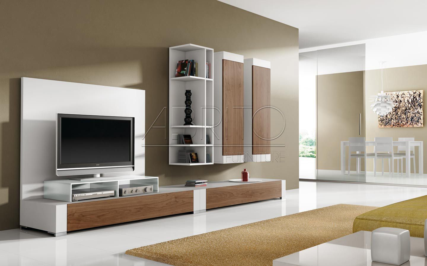 Modern tv wall units images spaces pinterest tv for Modern living room shelving units