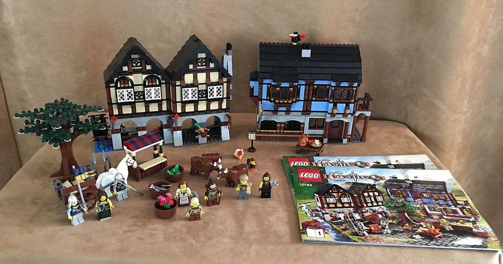 10193 Lego Castle Medieval Market Village complete minifig kingdom ...