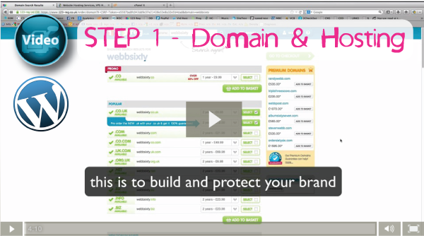 Welcome to our first video in a series on how to create a WordPress website from scratch. In these videos we will go through every aspect to create your own WordPress website, optimize it for high Google rankings and how to correctly Internet market your new site.  Our first video is about how to purchase a domain name that right for your business and brand, how and where to purchase website hosting and how to correctly upload your WordPress website and database.