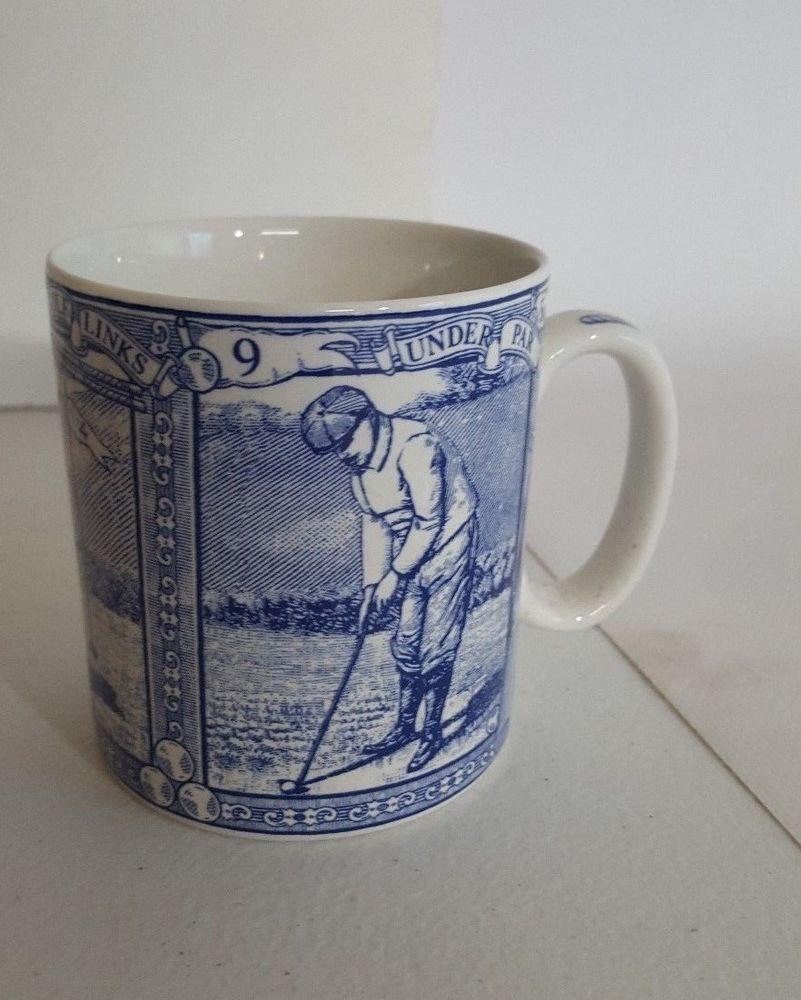 Spode Golf Coffee Mug Cup Blue Room Collection 2008