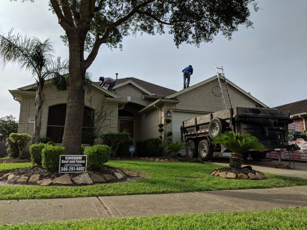 Check Out Kingdom Roof And Fence As We Become The Local Roofing Contractor In The Greater Houston Richmond Katy A Roofing Contractors Roofing Roof Inspection