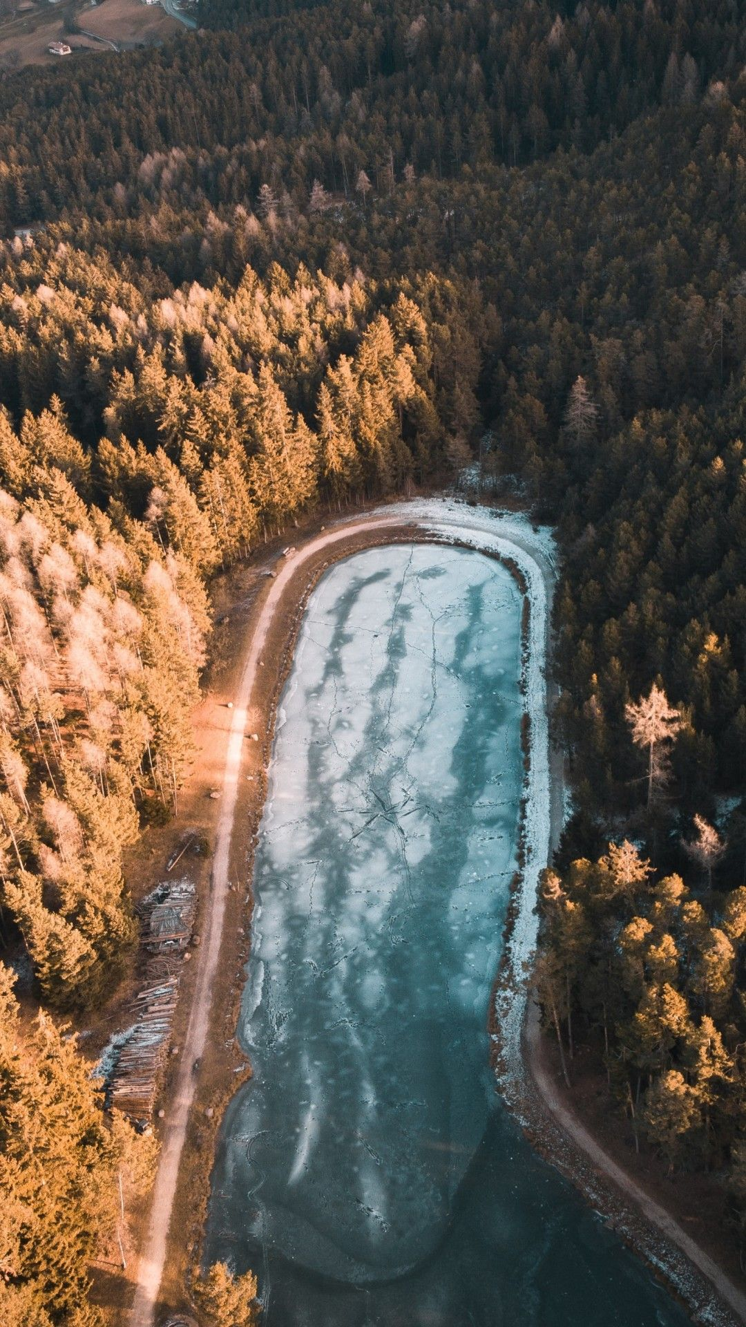 Aerial Photography Trees 4k Mobile Wallpaper (iPhone