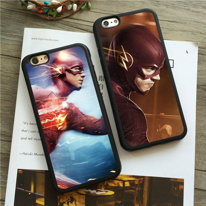 Details about super heroes the flash silicone cover case