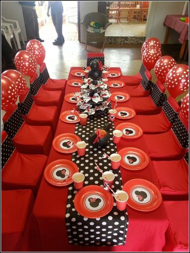 Red Minnie Mouse Party Decorations Google Search Minnie Mouse Party Decorations Minnie Mouse Birthday Party Minnie Mouse Party