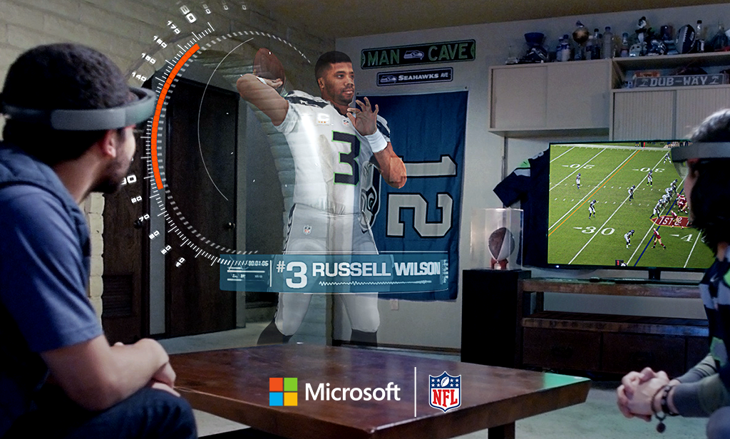 microsoft hololens augmented reality macht sportfernsehen. Black Bedroom Furniture Sets. Home Design Ideas