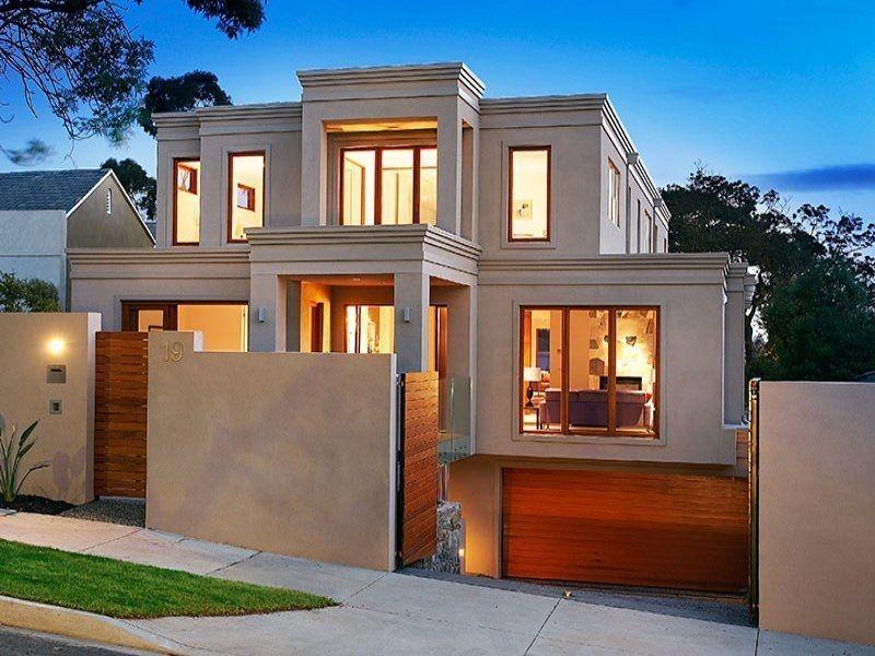 foto-fachada-de-casa-moderna-con-garaje-estacionamiento-en-sotano