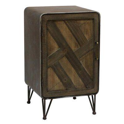 Union Rustic Delicia Wood And Metal 1 Door Accent Cabinet Wood Metal Wood Doors Furniture