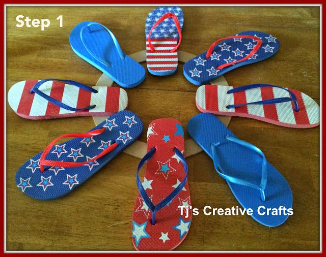 Diy dollar store patriotic flip flop wreath tutorial wreaths diy dollar store patriotic flip flop wreath tutorial publicscrutiny Image collections