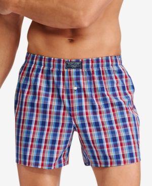 3 Pack Men/'s Check Boxer Shorts Pants Polly Cotton Underwear Trunks Briefs S M L
