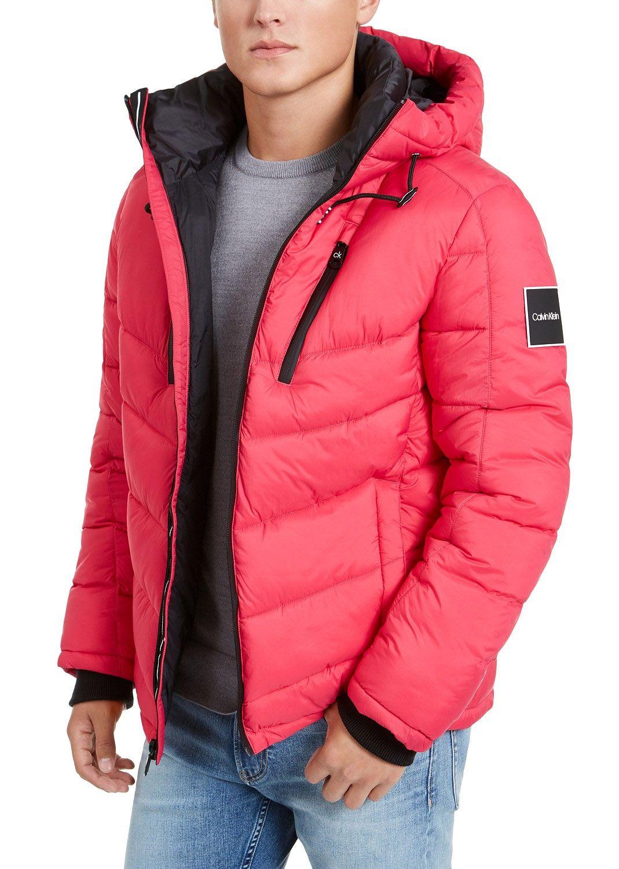 Calvin Klein Men S Neon Puffer With Hood Created For Macy S Magenta Calvin Klein Men Mens Jackets Calvin Klein [ 1500 x 1069 Pixel ]