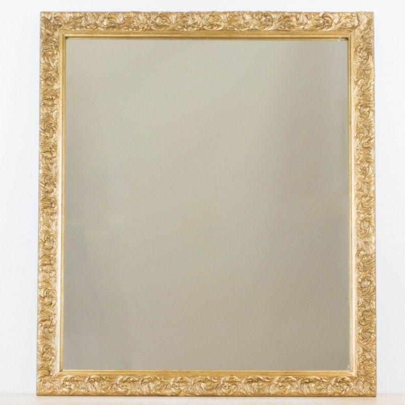 Espejo dorado a partir de antiguo marco | Pinterest | Marcos, Espejo ...