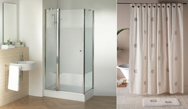 Para el ba o cortina o mampara decoracion pinterest - Cortinas para ducha ...