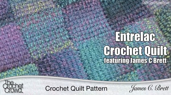 The Crochet Quilt Pattern Entrelac Crochet Crochet Quilt Pattern