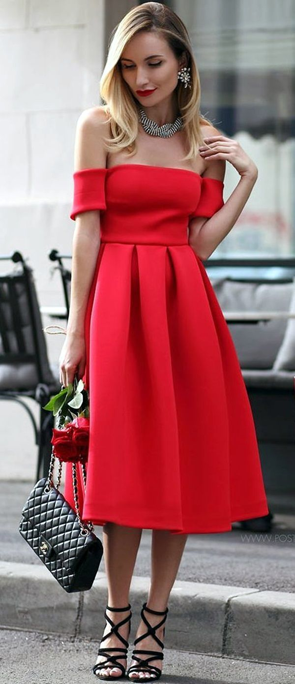 appealing off the shoulder dresses to add to your closet