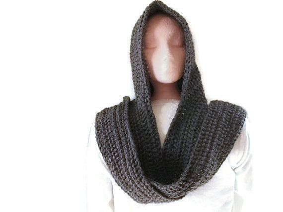 Hooded Scarf, Scoodie - Grey for Men and Women. Hood ...
