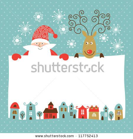 Greeting Christmas and New Year card - stock vector | CW thankyou ...
