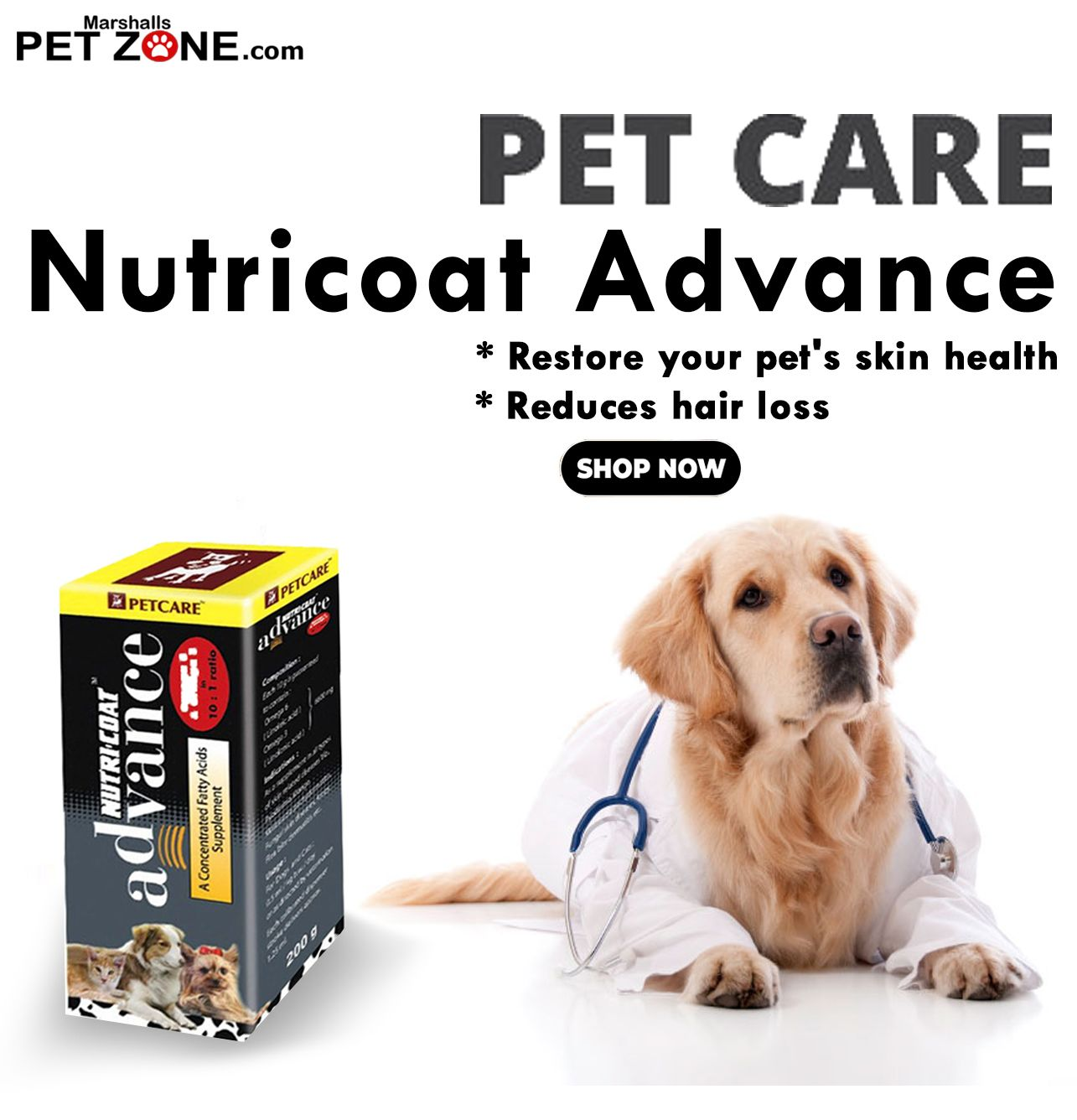 Petcare Nutricoat Advance Supplement for Dogs 200 gm at